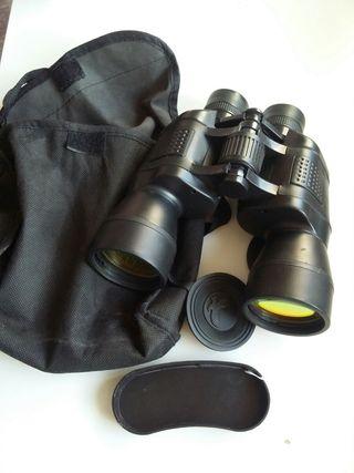 Prismáticos binoculares.