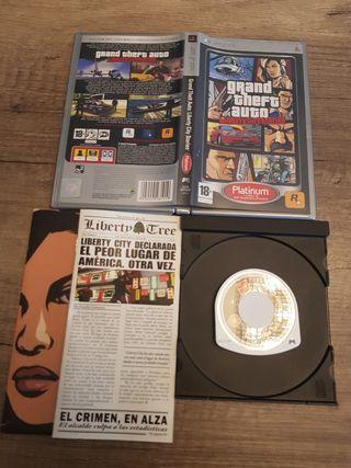 PSP GTA Liberty City Stories Platinum PAL ESP