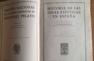 Historia de las ideas estéticas en España.