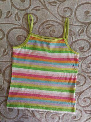 top rayas multicolor S