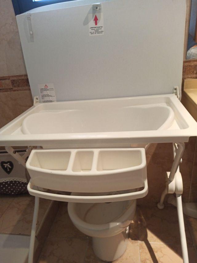 Bañera cambiador plegable