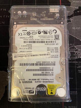 Disco duro externo 250Gb Usb 3.0