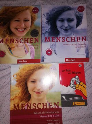 6 Libros alemán Menschen editorial Hueber