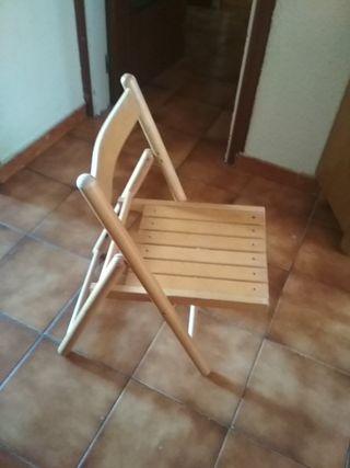 silla de madera plegable