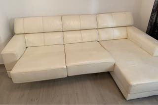 Sofa chaise longue de piel de vaca Argentina