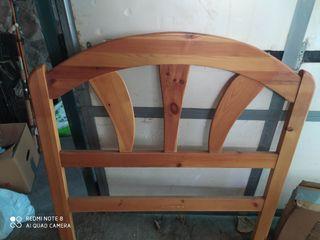 cabecero madera cama 90 cm