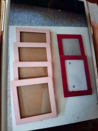 Marcos fotos rosa y fucsia para colgar