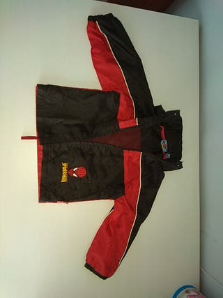 chaqueta impermeable spiderman