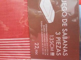 juego de sabanas para cama de 135 cm a estrenar