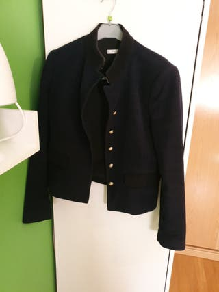 chaqueta de vestir color azul marino