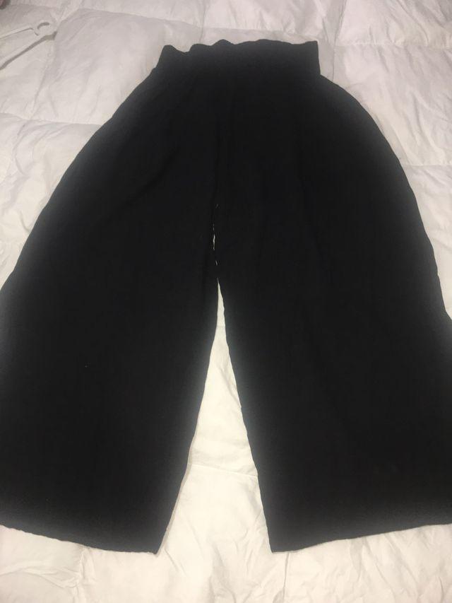 Pantalón ancho negro talla única