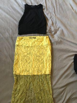 Conjunto falda y top
