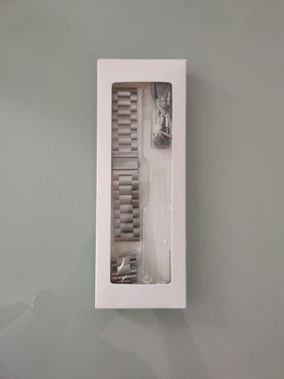 correa reloj de acero 22mm NUEVA