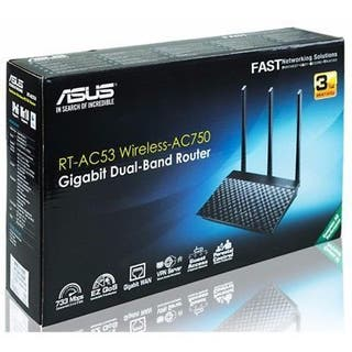 ROUTER ASUS RT-AC53 Wireless-AC750 (2-P) Dual Band