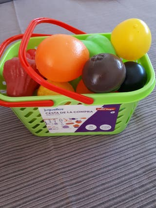 Cesta compra con frutas 3+juguettos