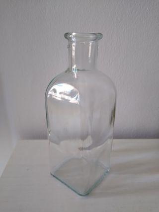 Botella jarron cristal