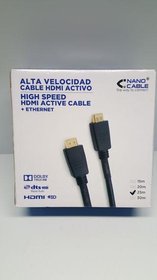 Cable HDMI Activo Alta velocidad 25 metros
