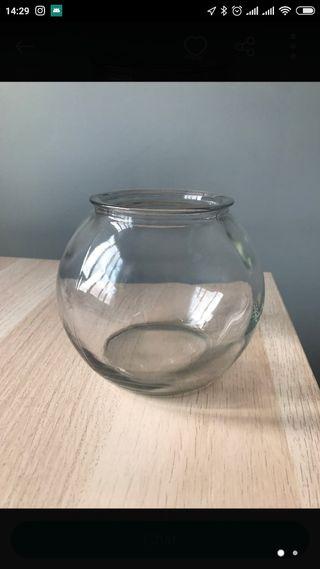 Jarrón de cristal Pecera
