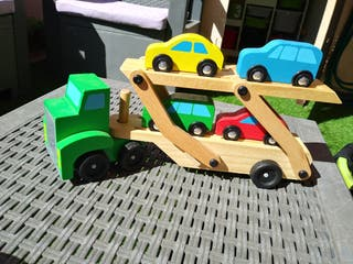 camion + coches madera