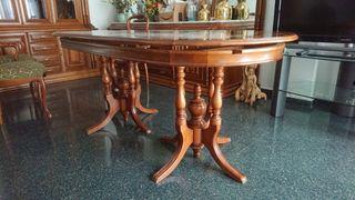 Mesa madera comedor más sillas