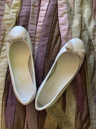 Zapatos Blancos Comunion