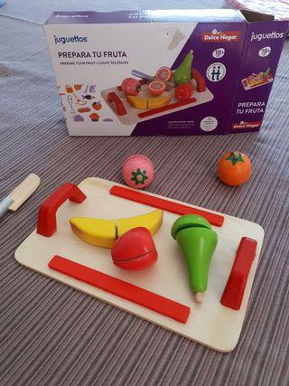 juego frutas madera