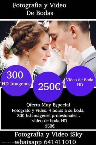 fotografia y video de bodas 250€