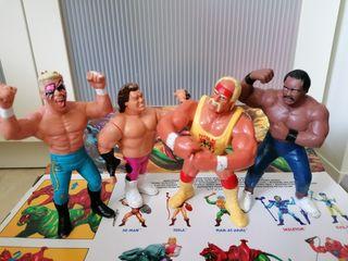 Lote figuras lucha libre vintage
