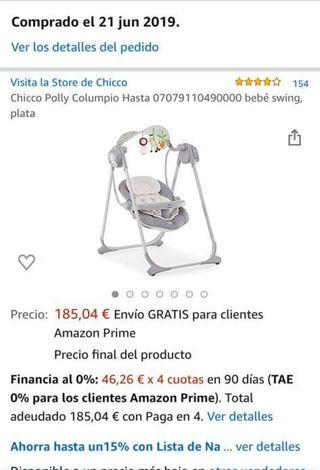 Columpio hamaca de bebé chicco
