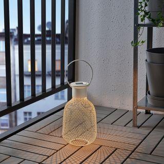 Farol solar LED de rejilla blanco IKEA (A ESTRENAR
