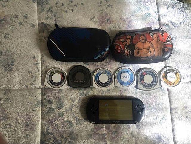 PSP y 5 juegos