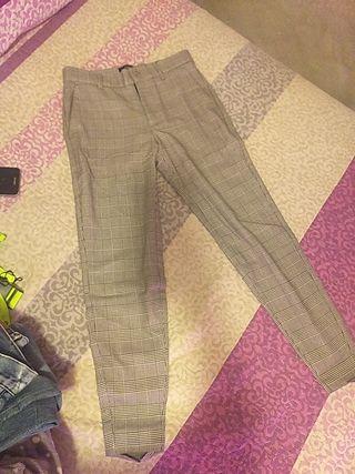 pantalon de cuadros de pinza