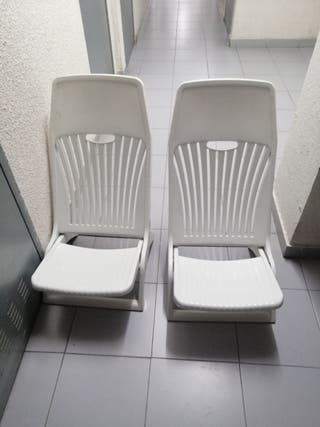 sillas jardín piscina