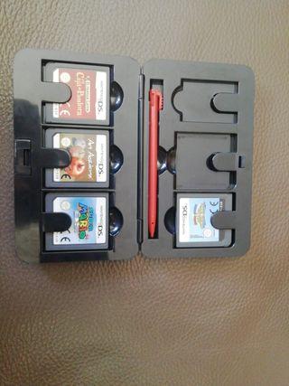 pack de 4 juegos de ninetendo DS con estuche