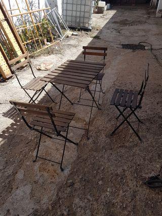 Conjunto terraza jardin