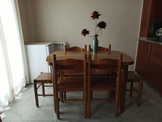 Mesa comedor de madera+6 sillas