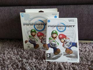 Mario Kart Wii con dos volantes.