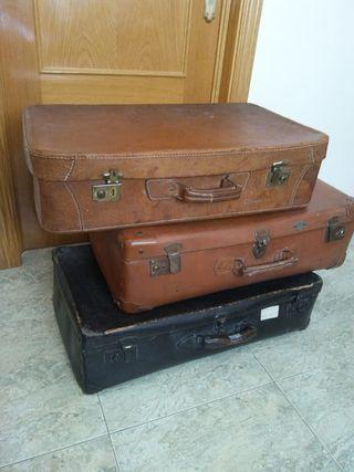 lote 3 maletas antiguas vintage