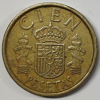 Moneda España, 100 pesetas 1988
