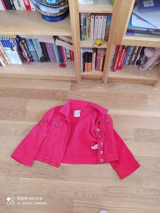 chaqueta bandolera roja