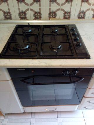 cocina gas horno electrico
