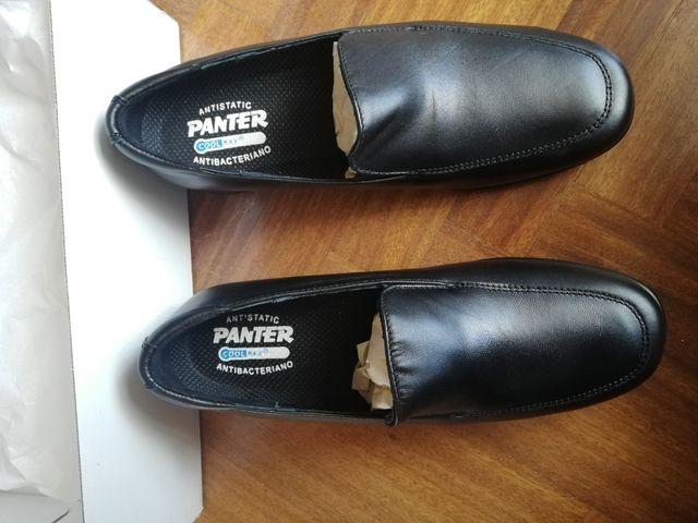 Zapatos de uniforme piel