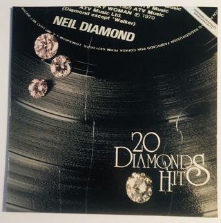 NEIL DIAMOND: 20 Diamond Hits Disco Vinilo LP