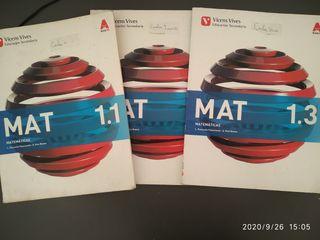 Libros de matemáticas de 1°ESO