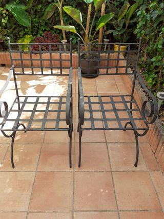 Sillas de hierro, para jardín y terraza