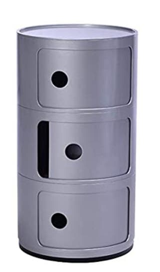 Mesillas de noche - mesita auxiliar color plata