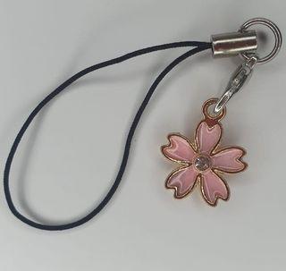 Llavero flor rosa