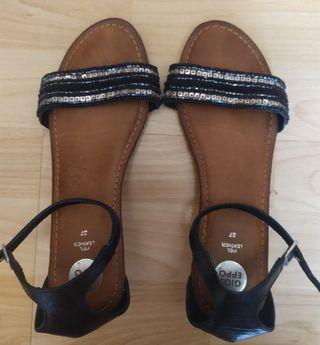 Sandalias de piel con plataforma