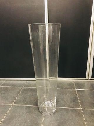 Jarrón de cristal 70cm altura