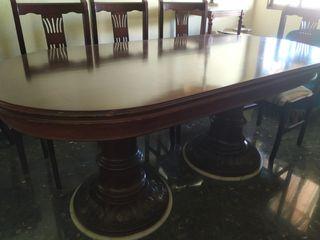 Conjunto de muebles antiguos caoba